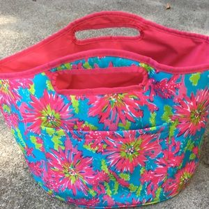Lilly Pulitzer cooler or pretty basket!